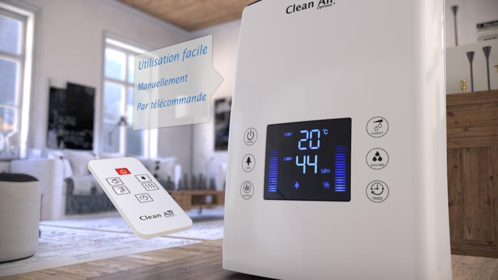 Humidificateur unique qui combine technologie, design et confort