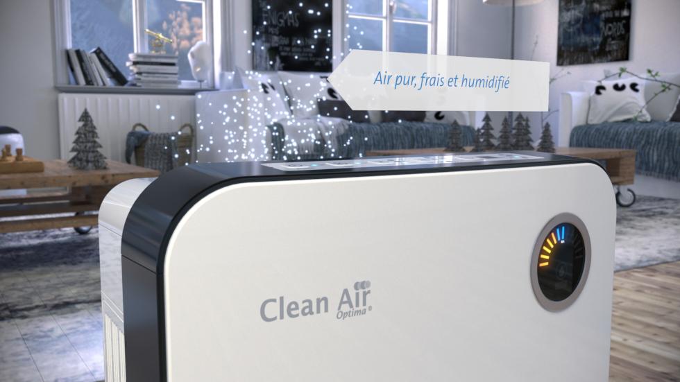 Le nouveau laveur d'air CA-807 de Clean Air Optima fonctionne selon le principe d'humidification très efficace à vapeur froide!