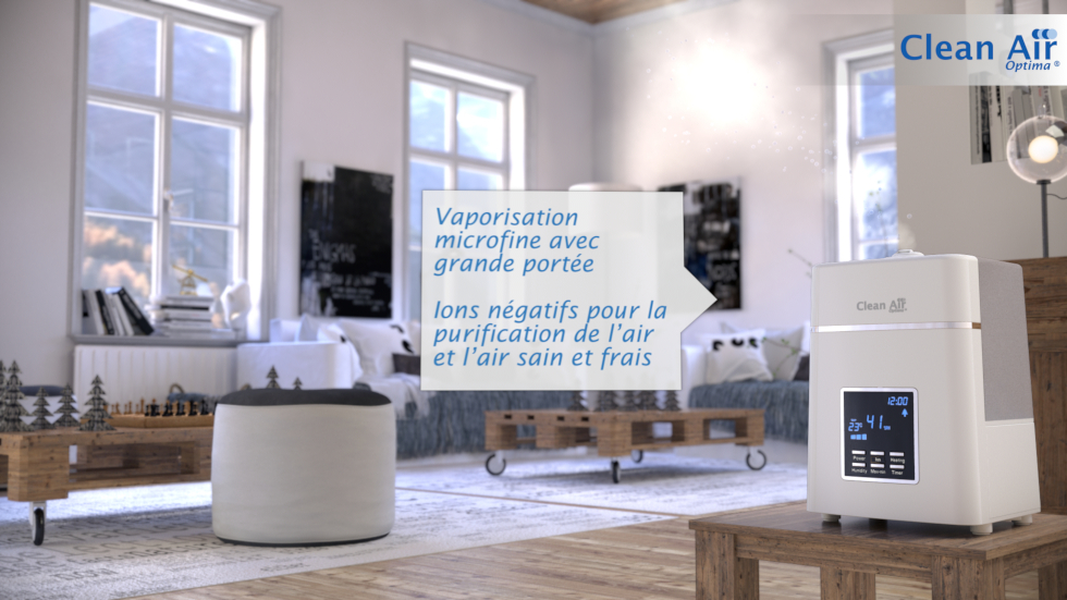 2en1: Humidificateur et purificateur d'air!