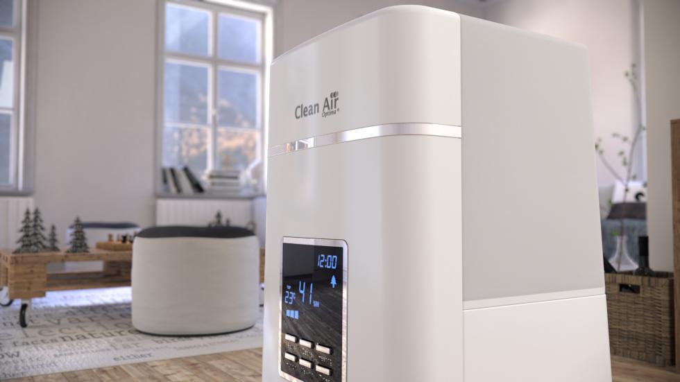 L´humidificateur d´air ultrason CA-604 progressif avec ioniseur et au design élégant améliore la qualité de l´air dans les grandes pièces jusqu´à 55m²