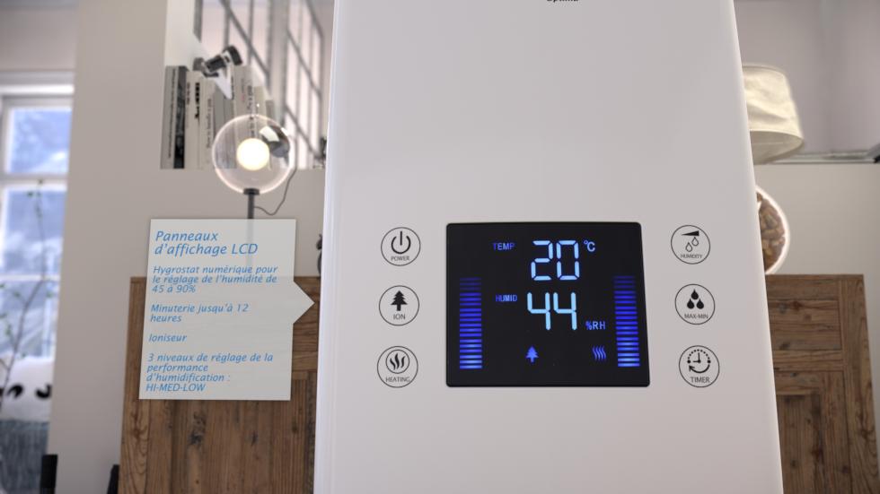 L'humidité de l'air optimale, conseillée par les médecins se situe aux environs d'une humidité relative de l'air de 40 à 60%.