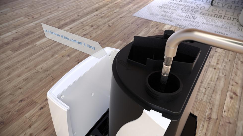 Humidificateur d'air à ultrasons CA-606 avec ioniseur pour un climat d'intérieur sain!