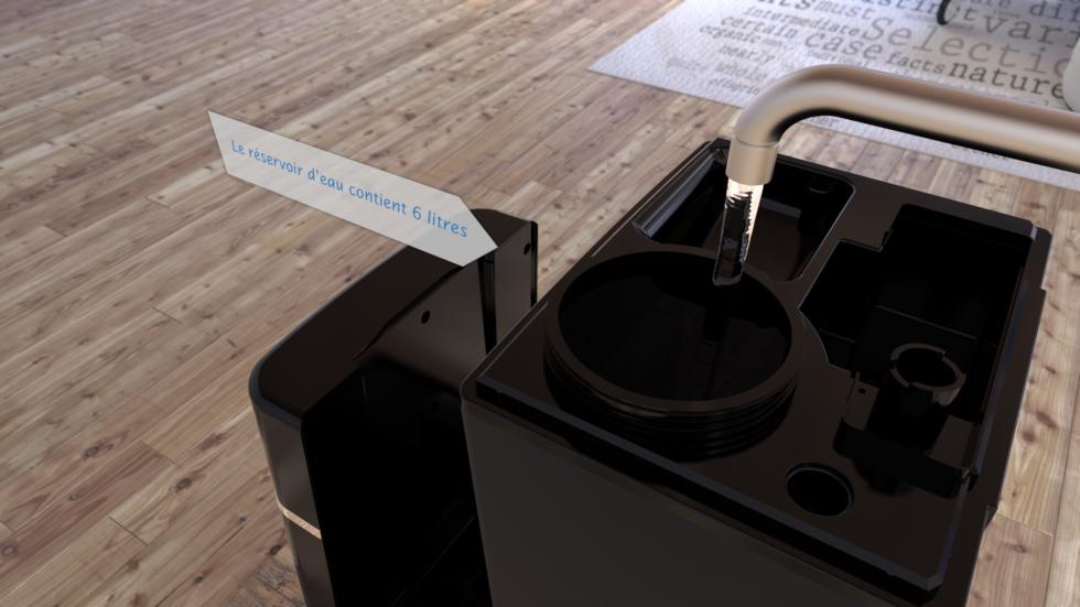 Capacité du réservoir: 6 litres, Performance d´humidification: environ 120 ml/h à 400 ml/h