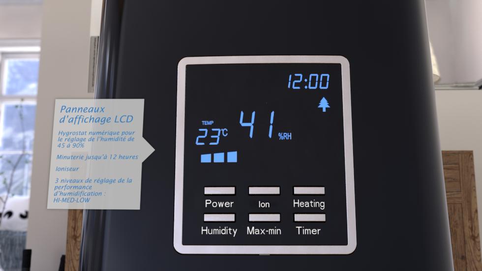 Ioniseur intégré pour la purification de l´air, Hygrostate numérique