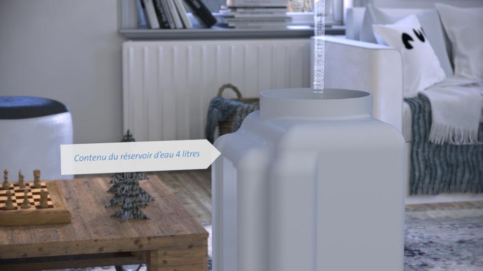 Le nouveau laveur d'air CA-803 de Clean Air Optima fonctionne selon le principe d'humidification très efficace à vapeur froide!