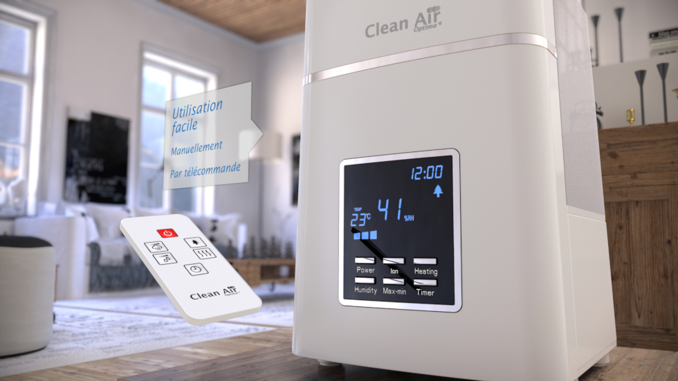 Humidificateur d'air ultrason + ioniseur CA-604W