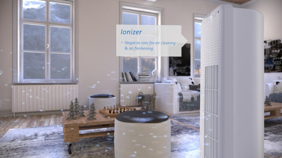 Le ventilateur tour luxueux CA-405 avec ioniseur de Clean Air Optima est idéal pour créer une brise rafraîchissante dans les pièces d'habitation