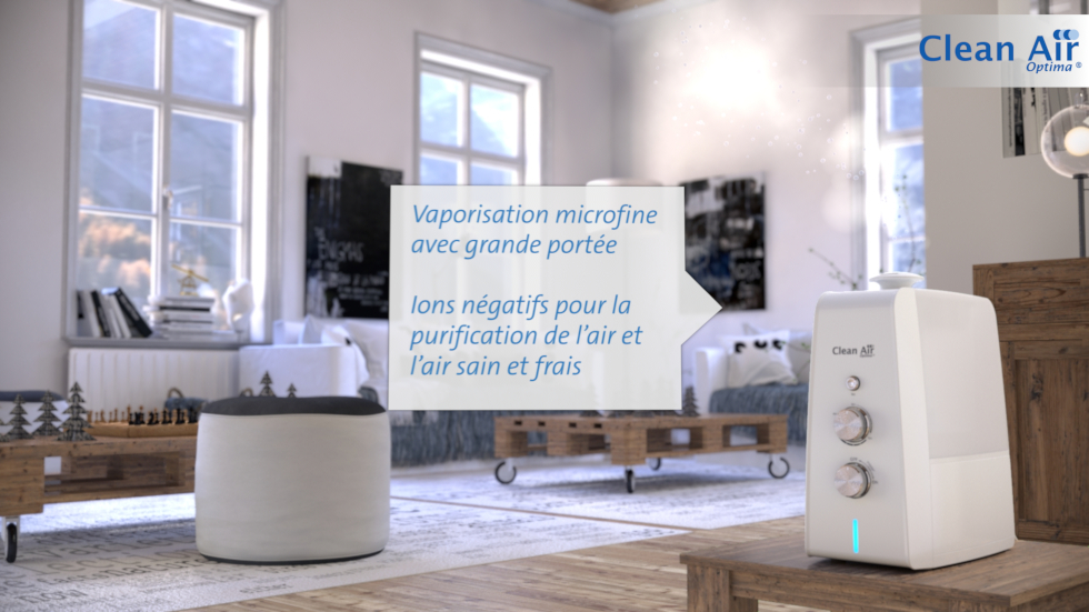 Humidification de l'air par ultrasons