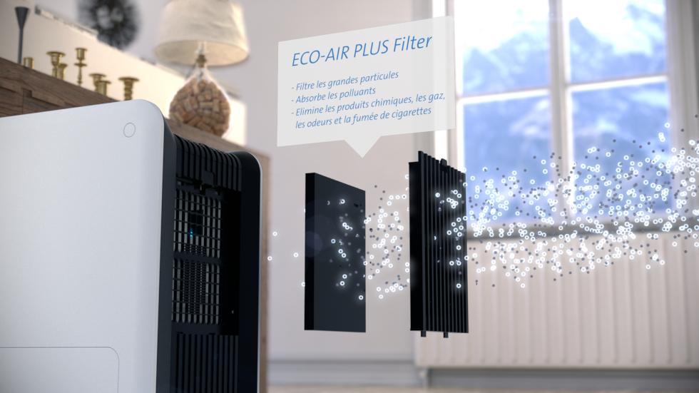 2en1 Humidificateur d'air et purificateur d'air, Idéal pour les personnes souffrant d'allergies!