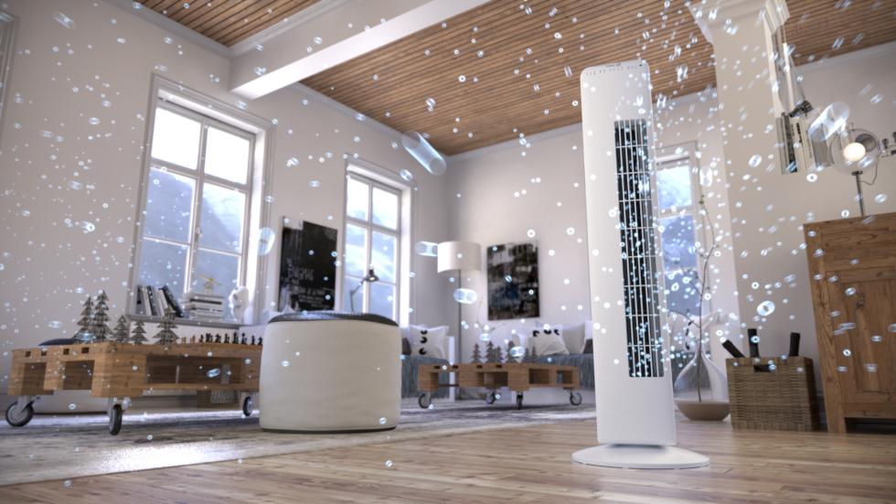 Le ventilateur tour CA-405 de Clean Air Optima avec ioniseur vous procure à tout moment une brise agréable et rafraîchissante à l'intérieur